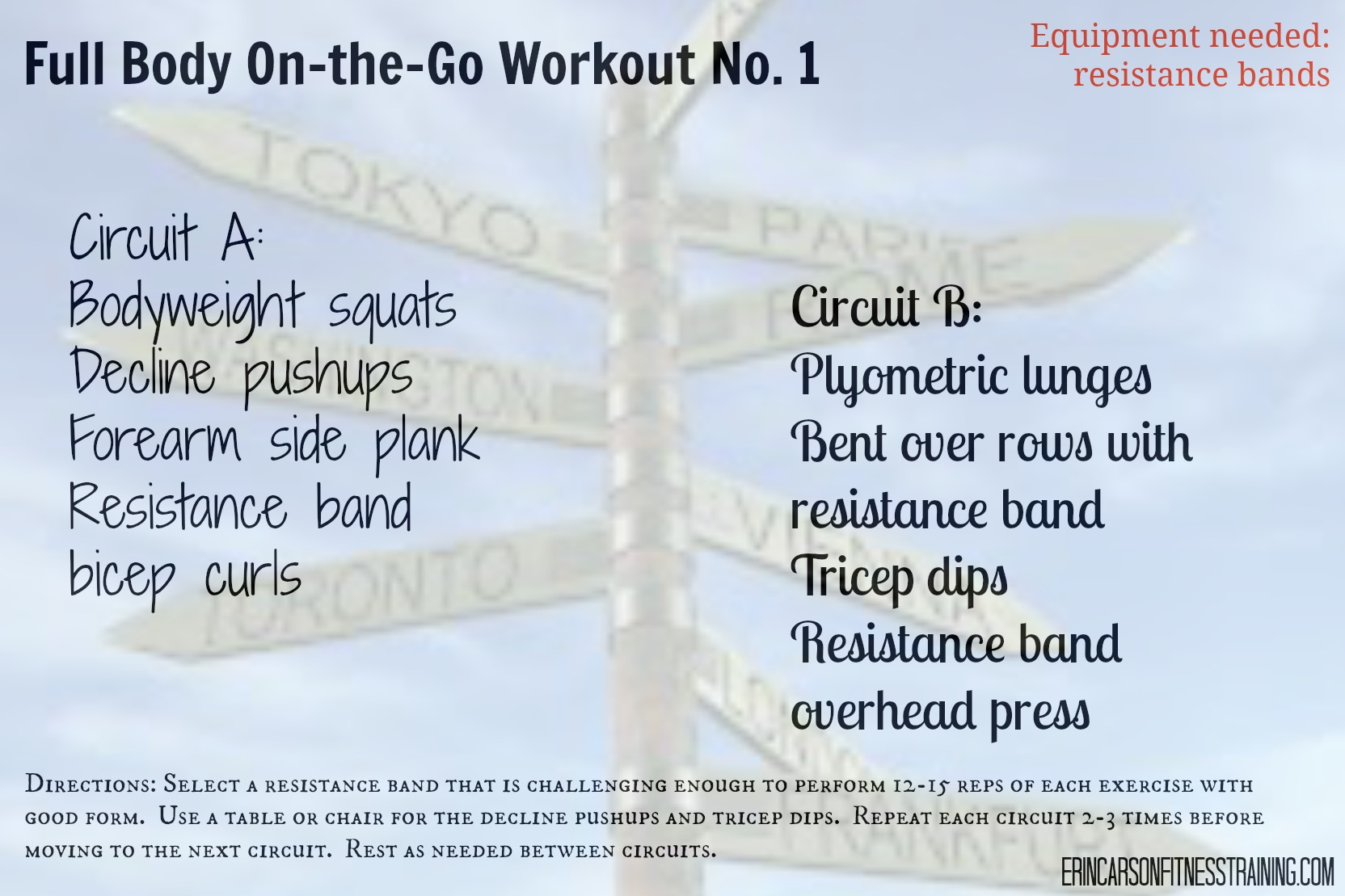 Workouts And Tagged Circuit Workout Full Body Blog Erin Mays Fitness Training Great Form On The Go No 1